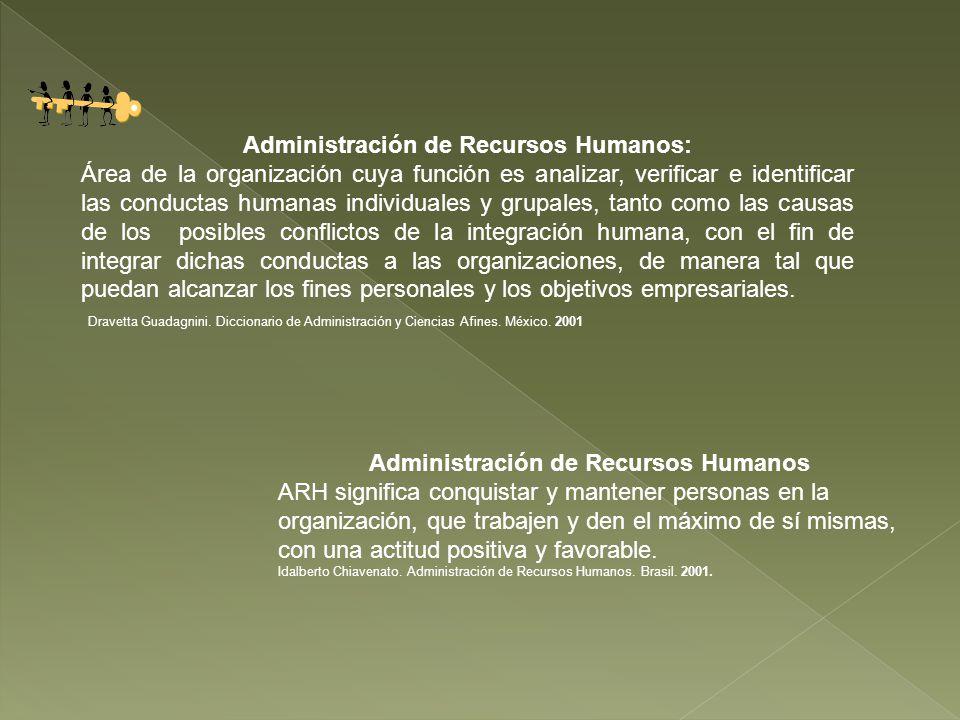 Administración de Recursos Humanos: