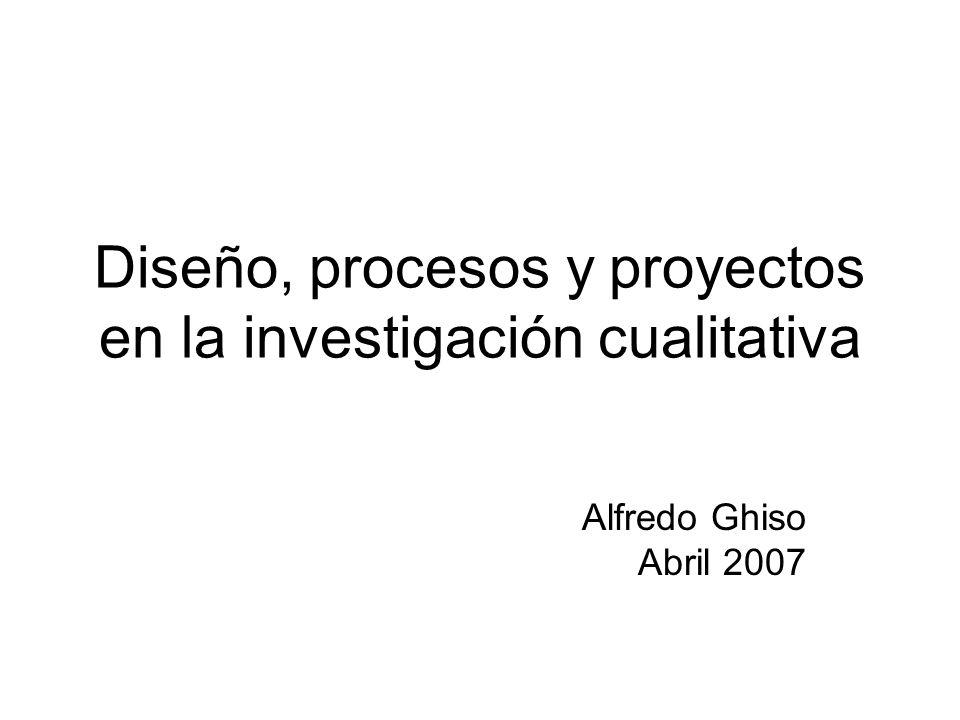 Diseño, procesos y proyectos en la investigación cualitativa