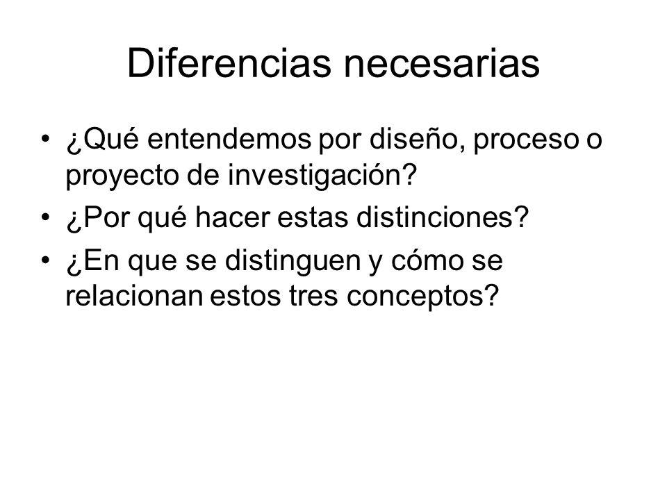 Diferencias necesarias