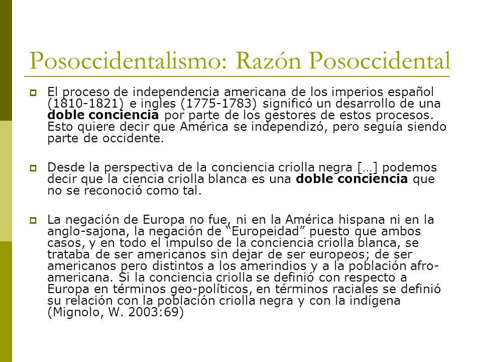 Posoccidentalismo: Razón Posoccidental