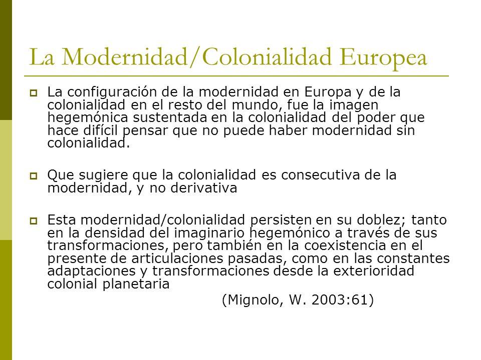 La Modernidad/Colonialidad Europea