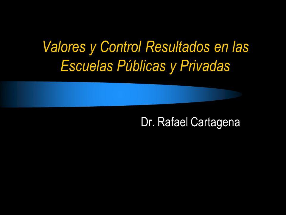 Valores y Control Resultados en las Escuelas Públicas y Privadas
