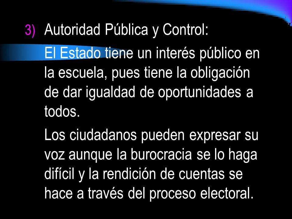 Autoridad Pública y Control: