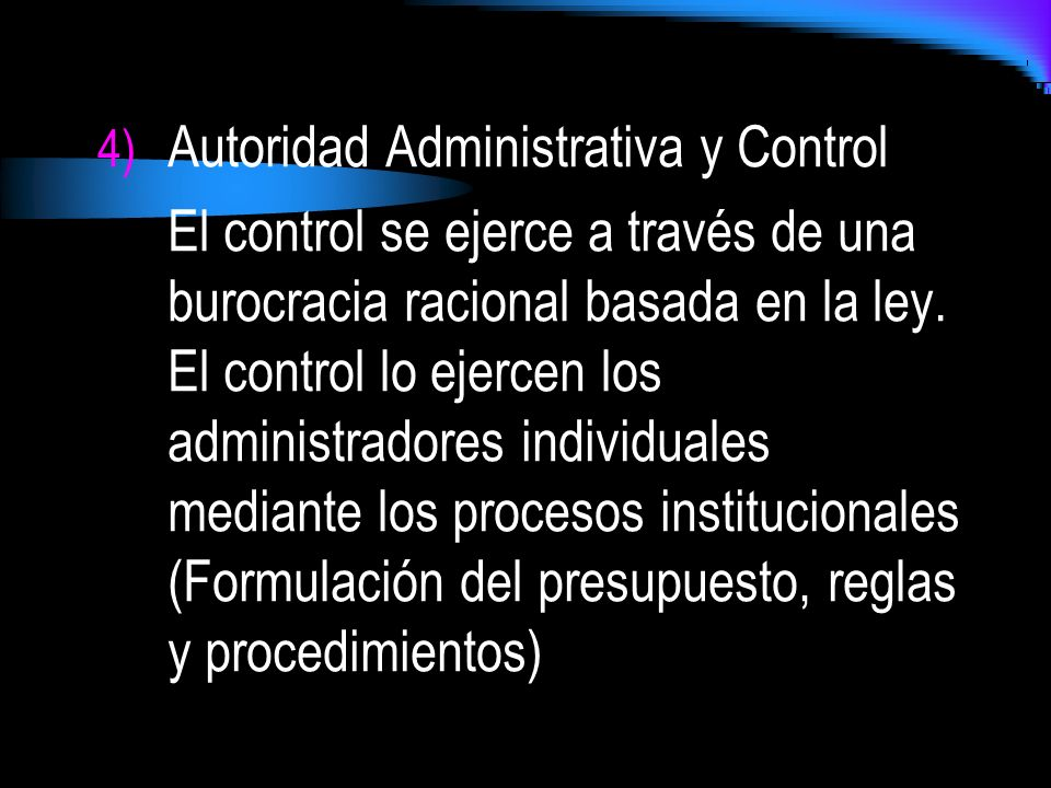 Autoridad Administrativa y Control