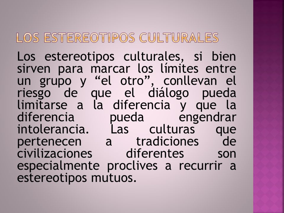 Los estereotipos culturales