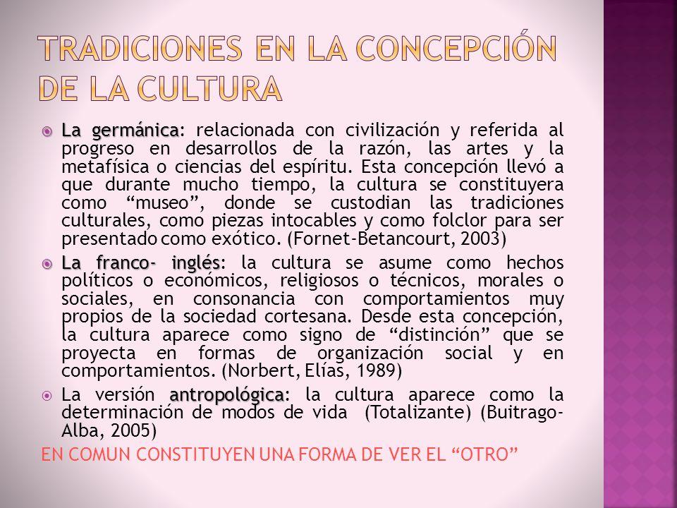 Tradiciones en la concepción de la cultura