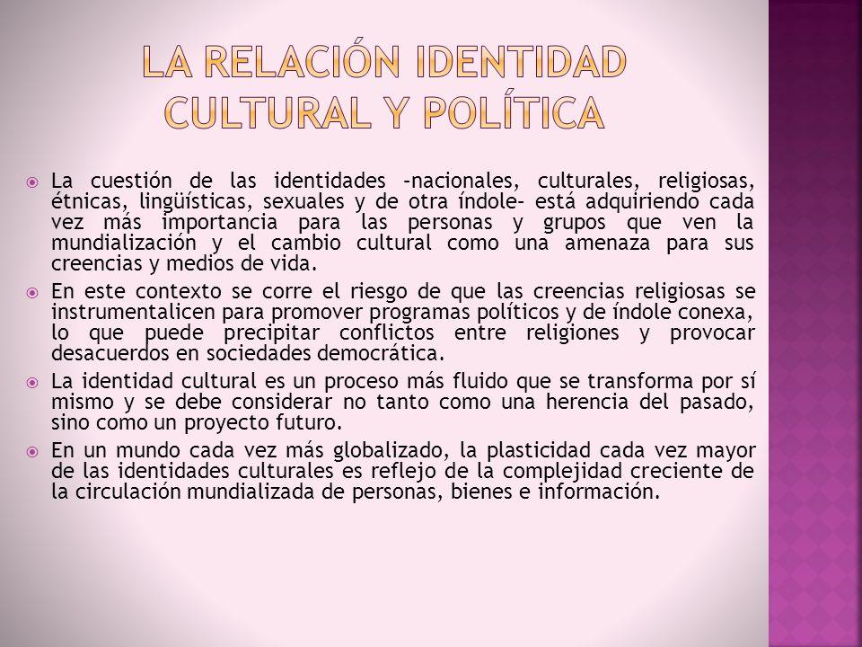La relación identidad cultural y política