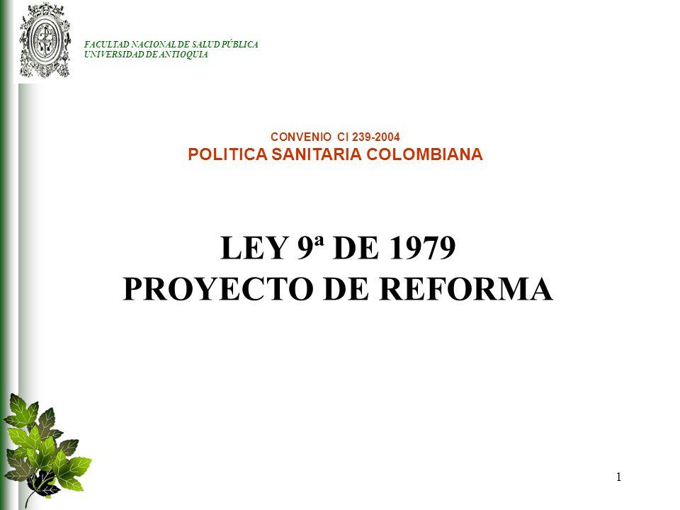 POLITICA SANITARIA COLOMBIANA