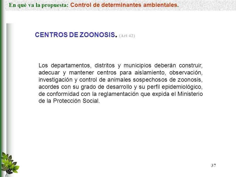 CENTROS DE ZOONOSIS. (Art 42)