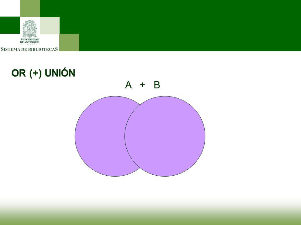 OR (+) UNIÓN A + B