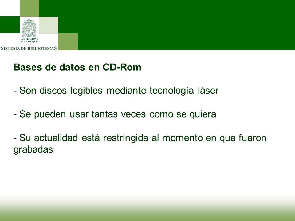Bases de datos en CD-Rom