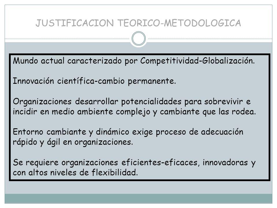 JUSTIFICACION TEORICO-METODOLOGICA