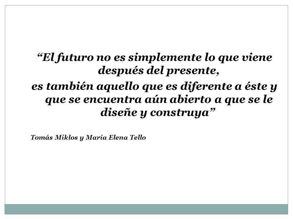 El futuro no es simplemente lo que viene después del presente,