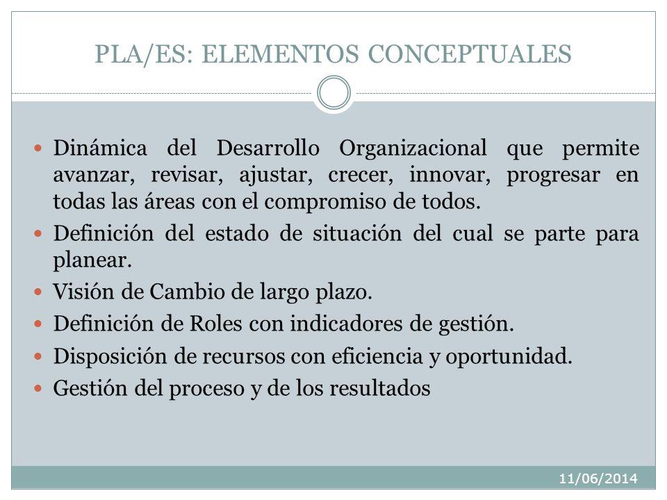PLA/ES: ELEMENTOS CONCEPTUALES