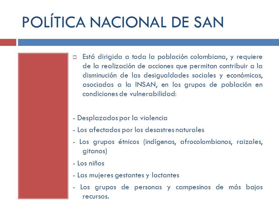 POLÍTICA NACIONAL DE SAN