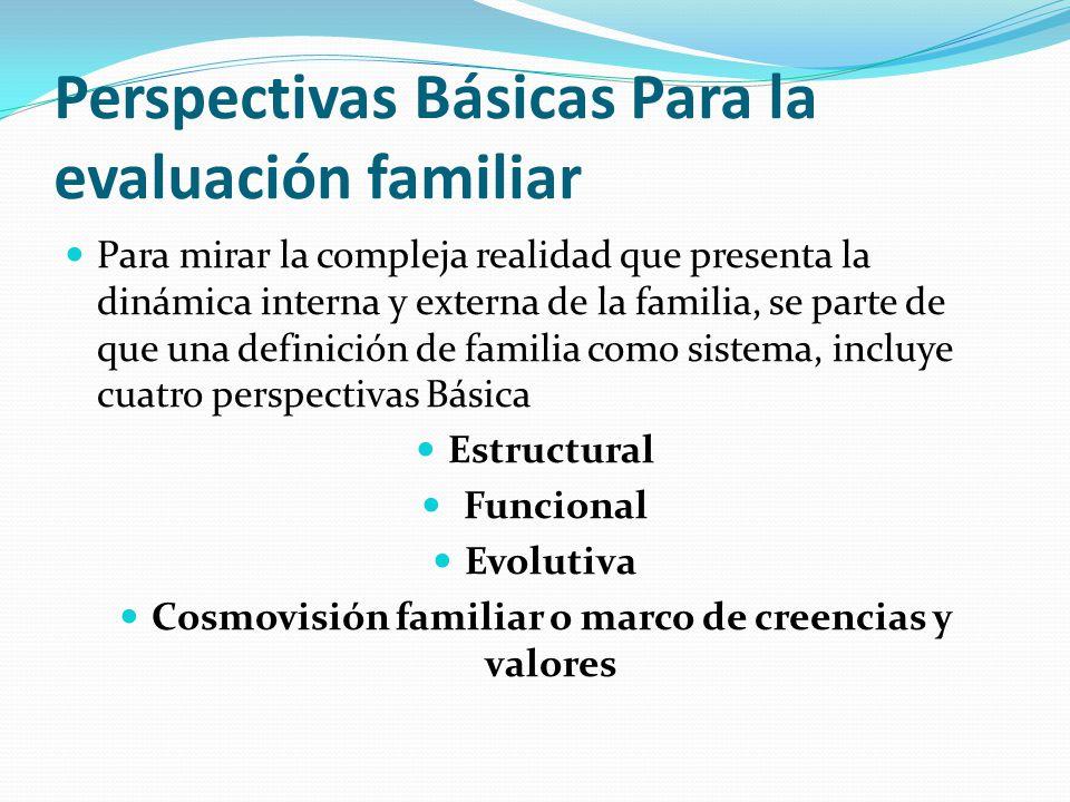 Perspectivas Básicas Para la evaluación familiar