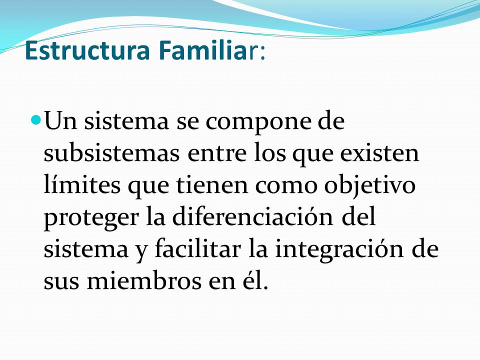 Estructura Familiar: