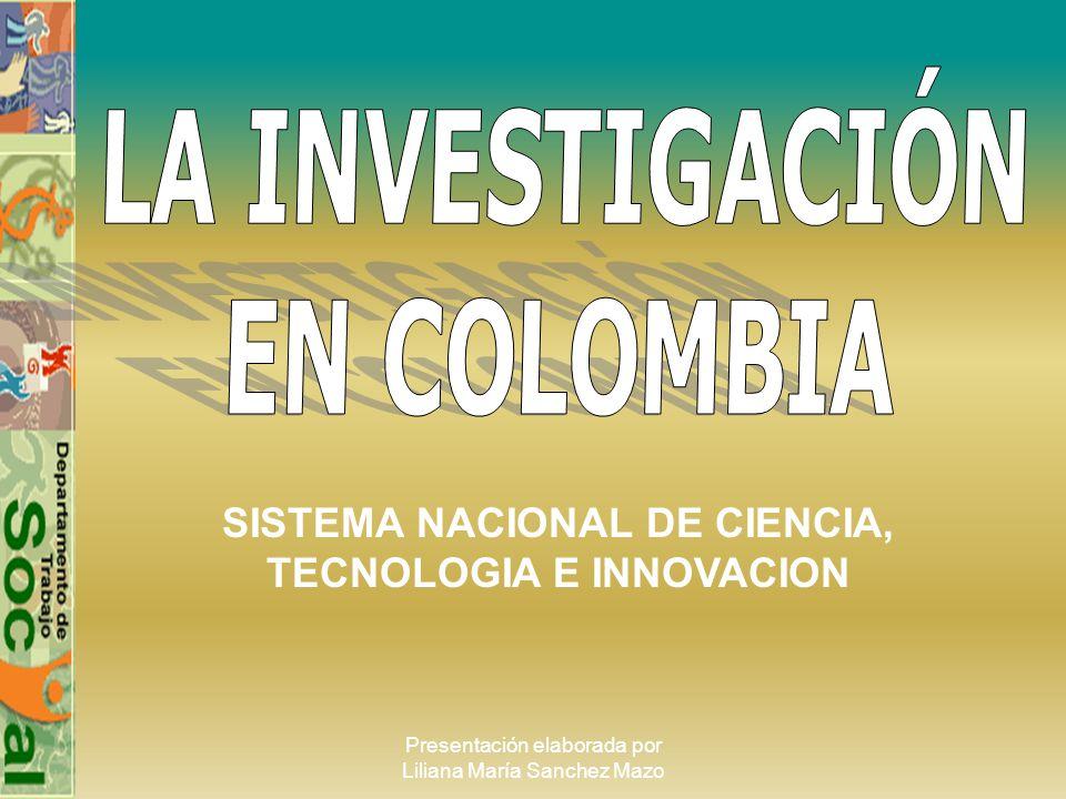 SISTEMA NACIONAL DE CIENCIA, TECNOLOGIA E INNOVACION