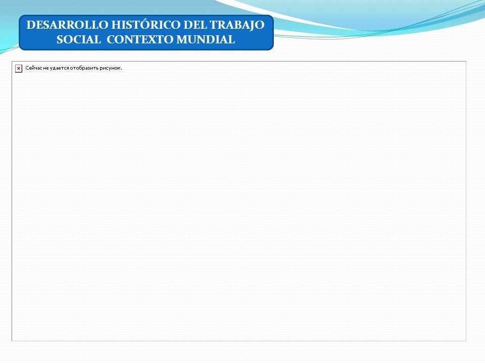 DESARROLLO HISTÓRICO DEL TRABAJO SOCIAL CONTEXTO MUNDIAL