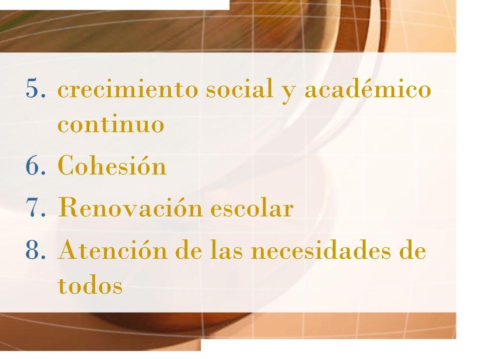 crecimiento social y académico continuo