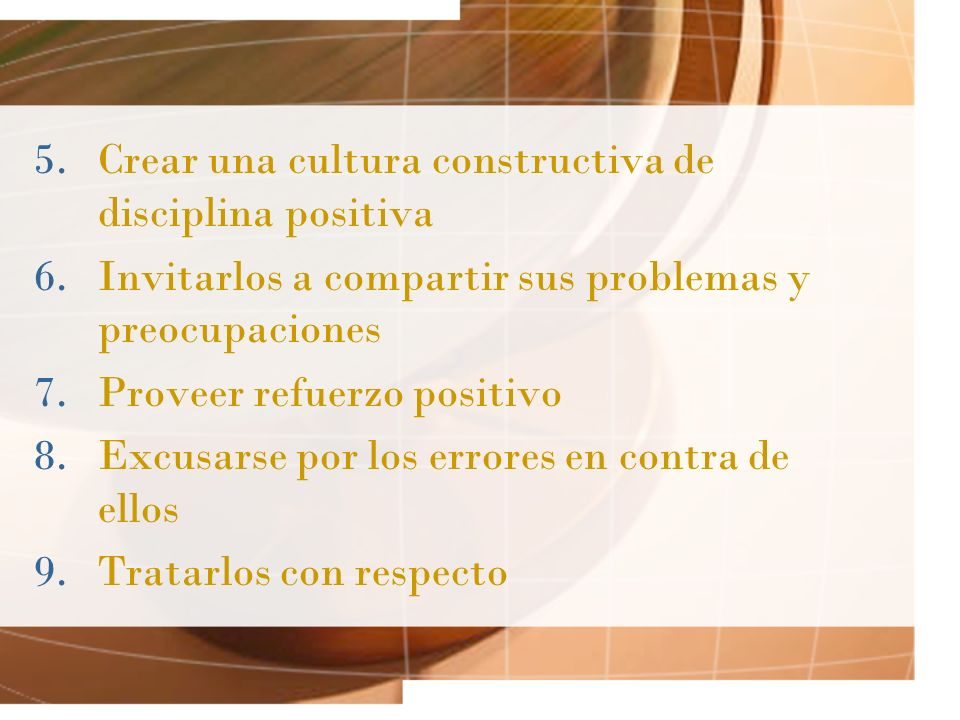 Crear una cultura constructiva de disciplina positiva