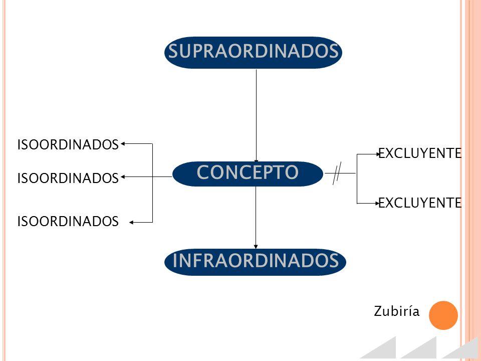 SUPRAORDINADOS CONCEPTO INFRAORDINADOS