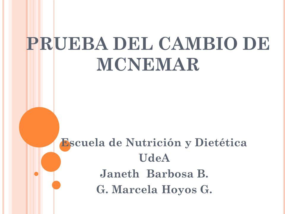 PRUEBA DEL CAMBIO DE MCNEMAR