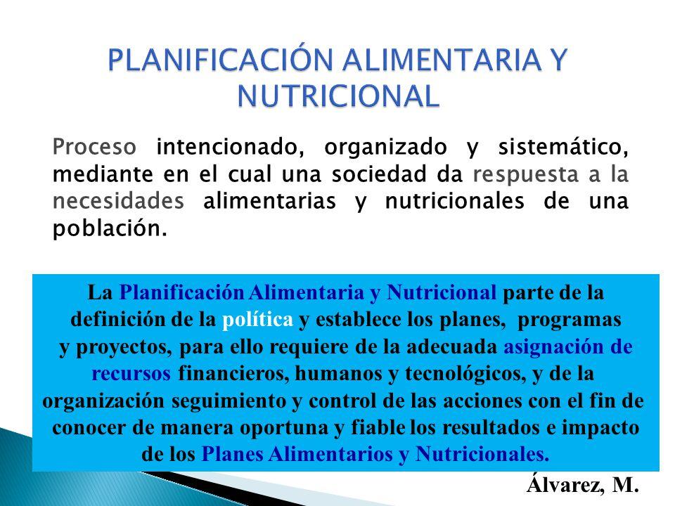 PLANIFICACIÓN ALIMENTARIA Y NUTRICIONAL