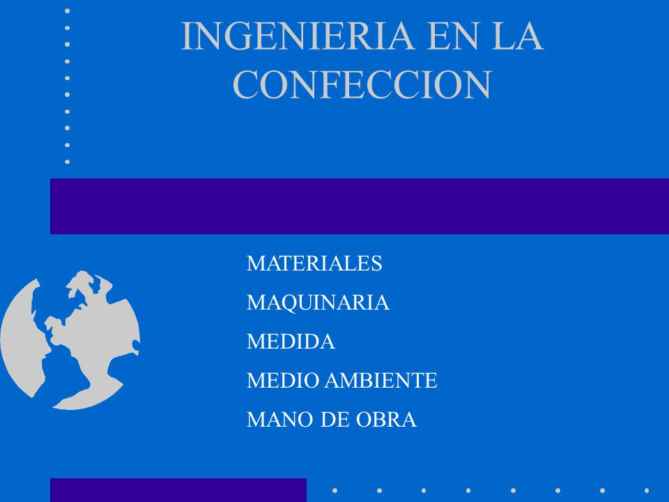INGENIERIA EN LA CONFECCION