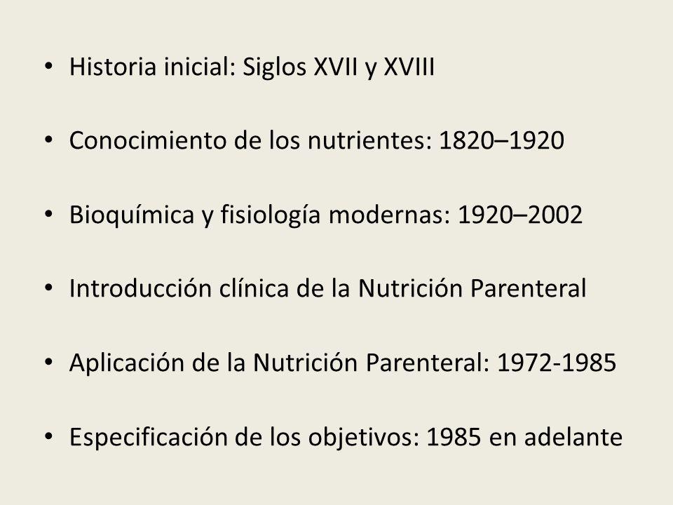 Historia inicial: Siglos XVII y XVIII