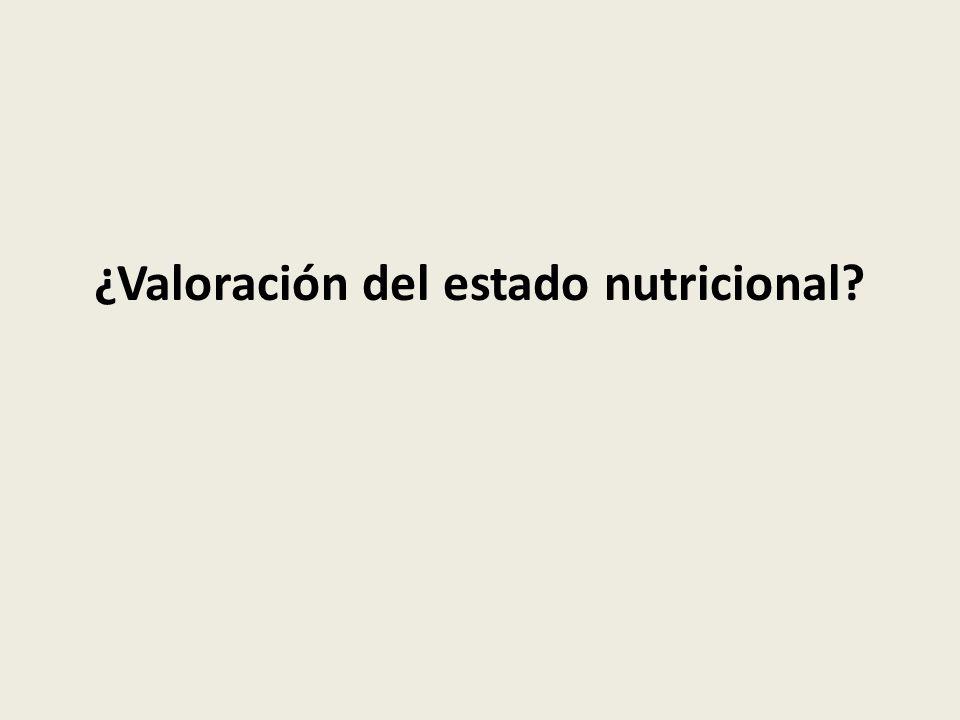 ¿Valoración del estado nutricional