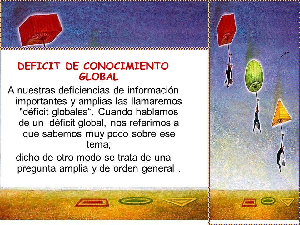 DEFICIT DE CONOCIMIENTO GLOBAL