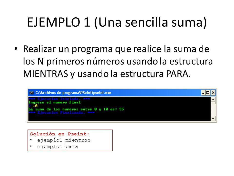 EJEMPLO 1 (Una sencilla suma)