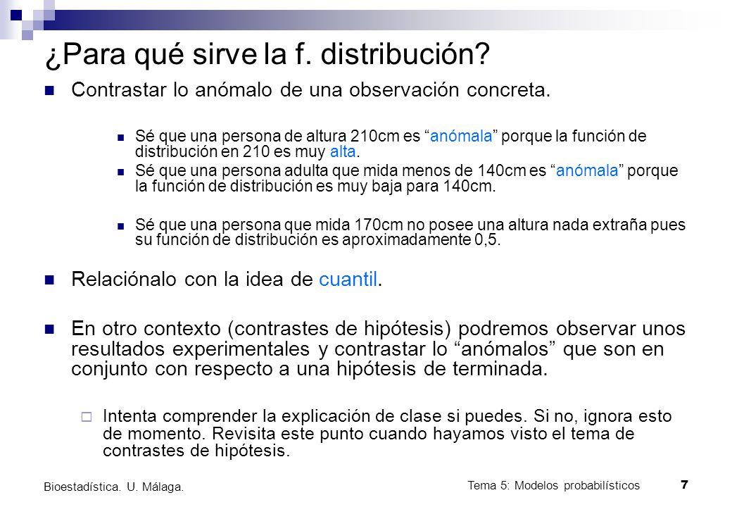 ¿Para qué sirve la f. distribución