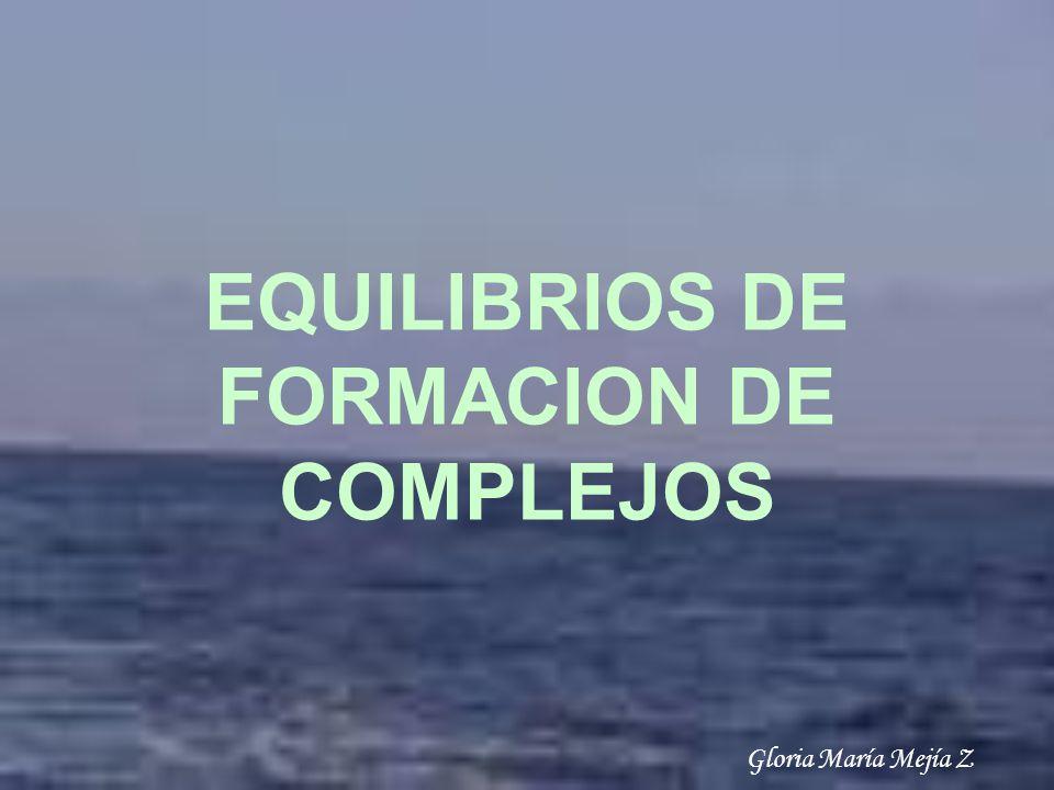 EQUILIBRIOS DE FORMACION DE COMPLEJOS
