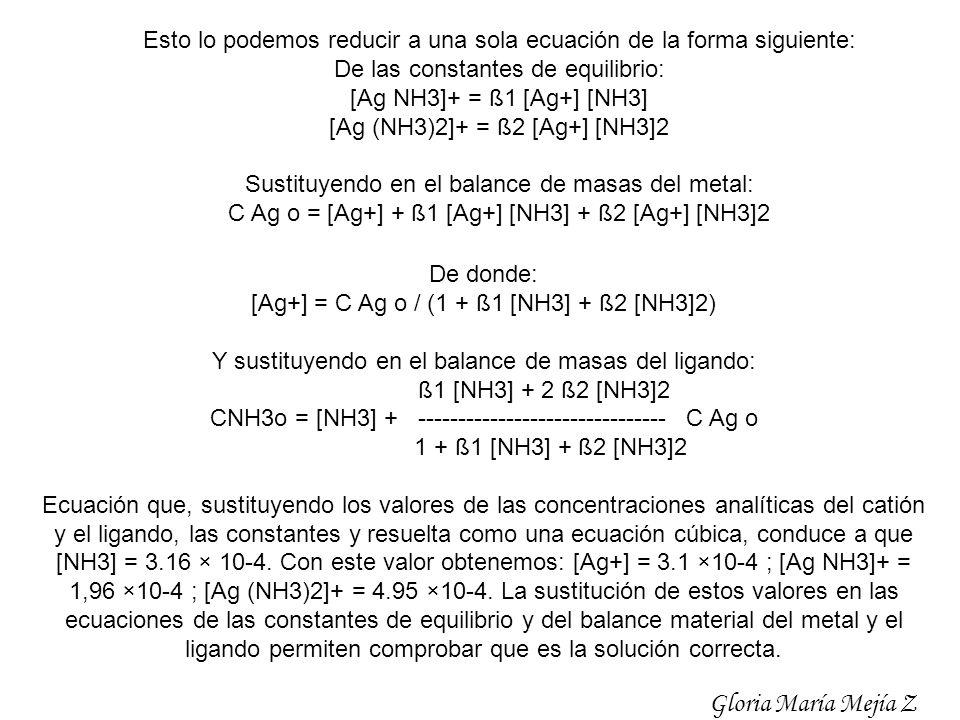 Esto lo podemos reducir a una sola ecuación de la forma siguiente:
