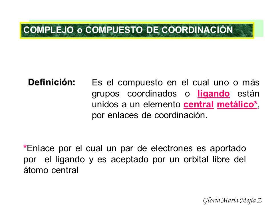COMPLEJO o COMPUESTO DE COORDINACIÓN