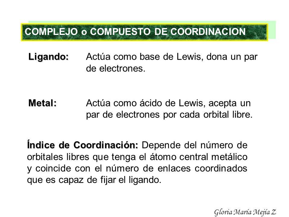 COMPLEJO o COMPUESTO DE COORDINACION