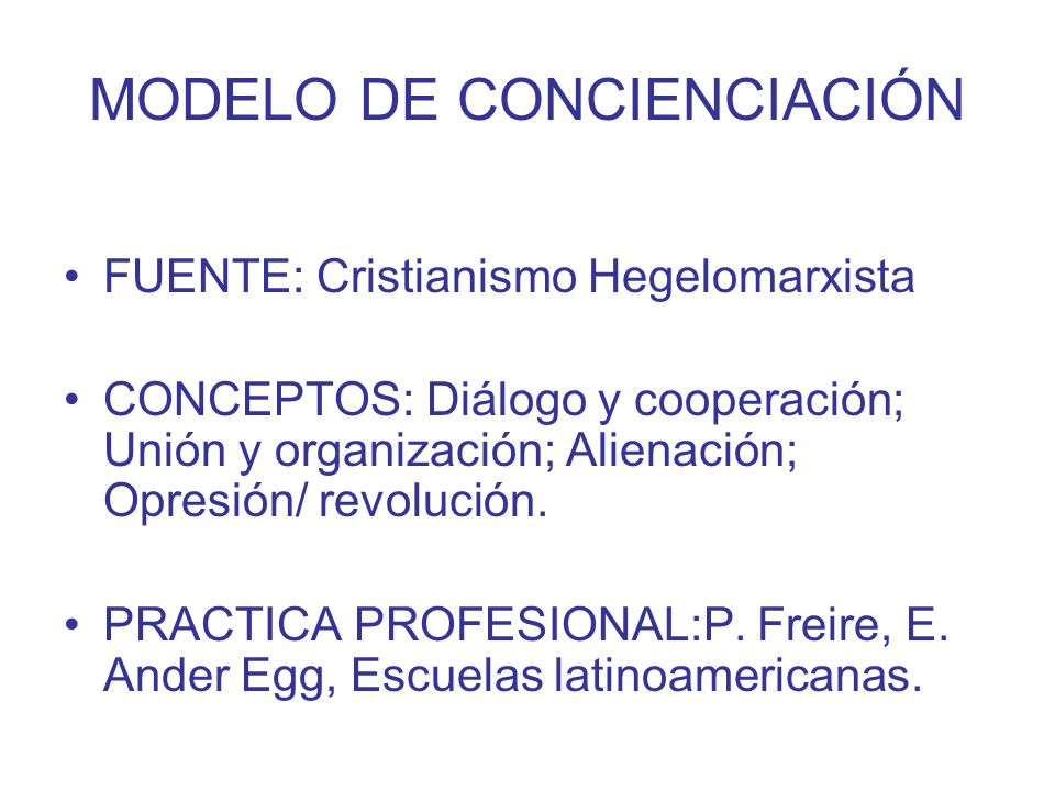 MODELO DE CONCIENCIACIÓN