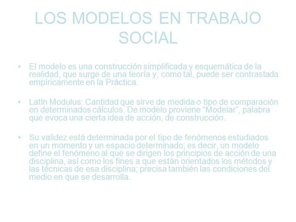 LOS MODELOS EN TRABAJO SOCIAL