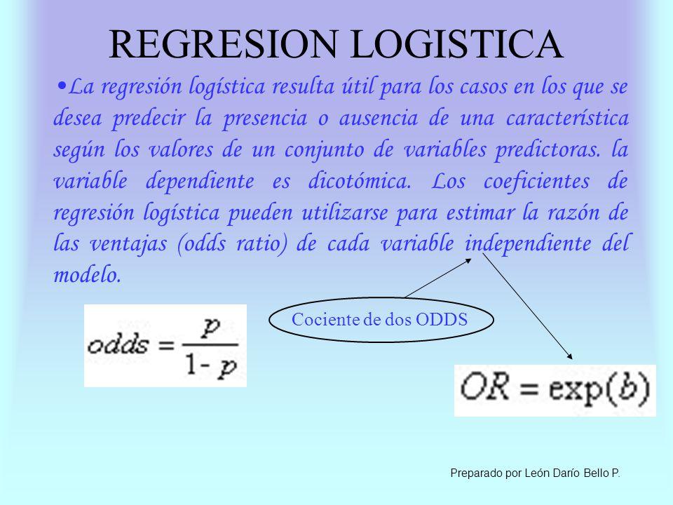 REGRESION LOGISTICA