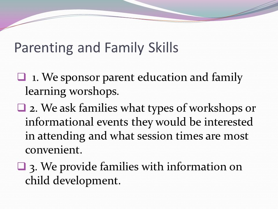 Parenting and Family Skills