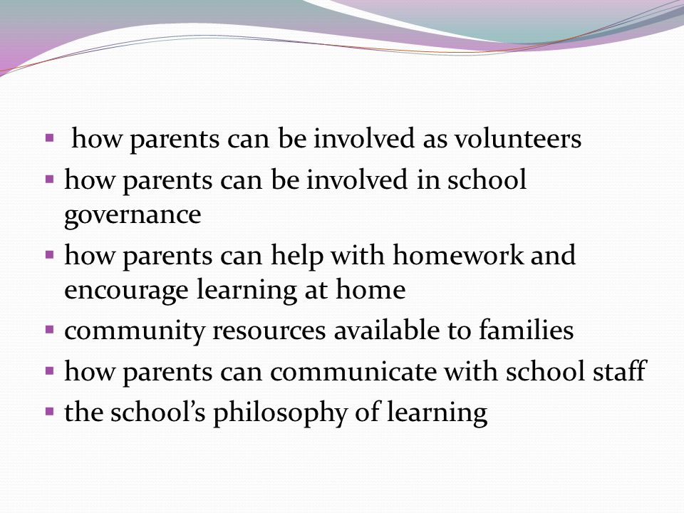 how parents can be involved as volunteers