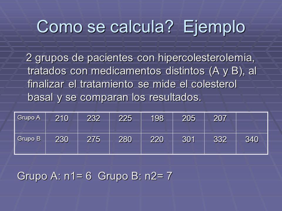 Como se calcula Ejemplo
