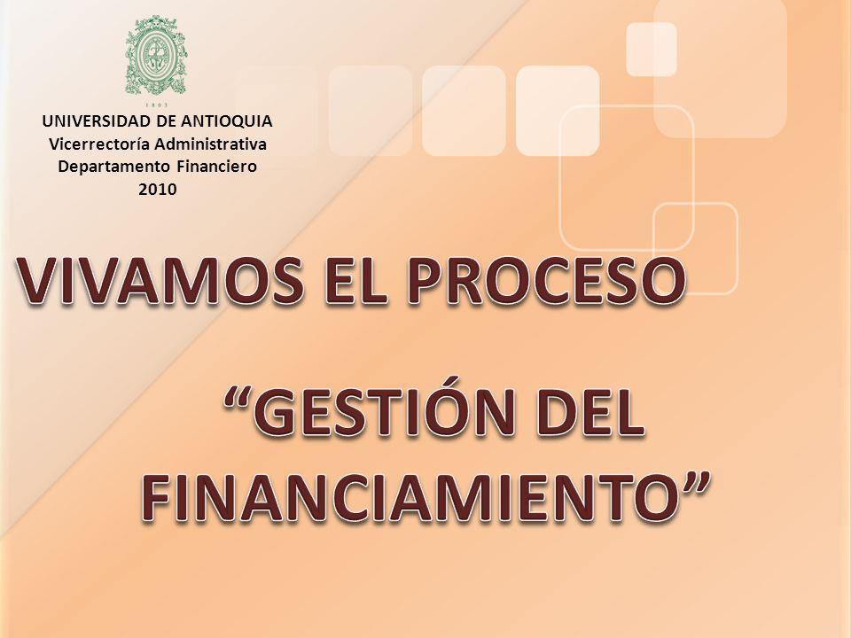 VIVAMOS EL PROCESO GESTIÓN DEL FINANCIAMIENTO
