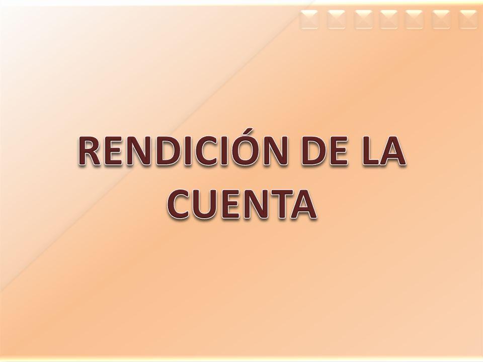 RENDICIÓN DE LA CUENTA