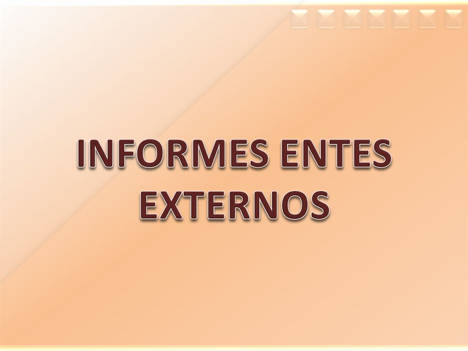 INFORMES ENTES EXTERNOS