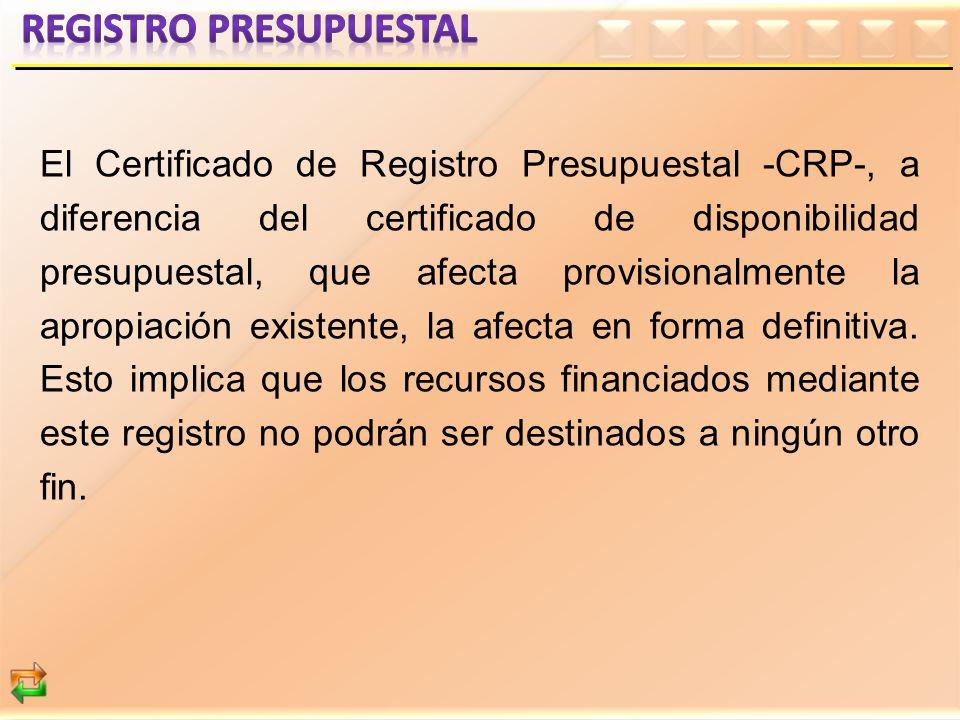 REGISTRO PRESUPUESTAL