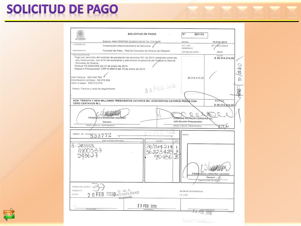 SOLICITUD DE PAGO