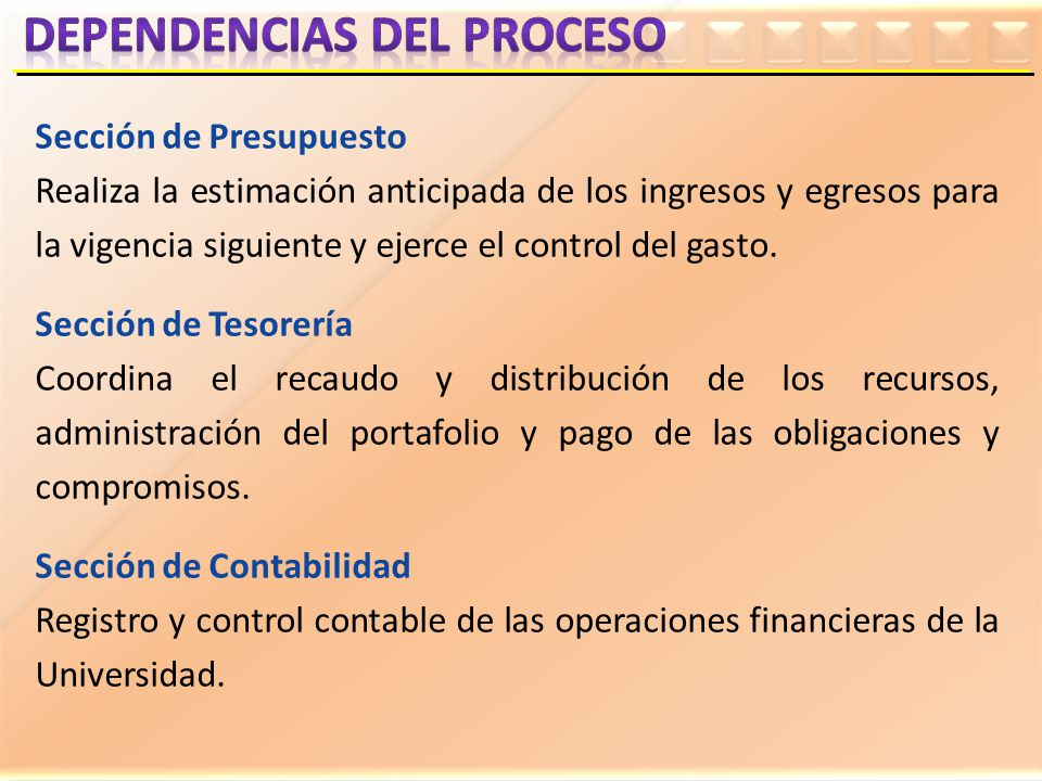 DEPENDENCIAS DEL PROCESO